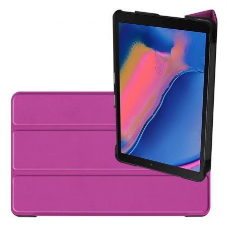 Двухсторонний Чехол Книжка для планшета Samsung Galaxy Tab A 8.0 2019 SM-P200 SM-P205 Искусственно Кожаный с Подставкой Фиолетовый