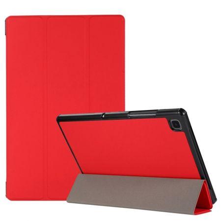 Двухсторонний Чехол Книжка для планшета Samsung Galaxy Tab A7 10.4 2020 SM-T505 Искусственно Кожаный с Подставкой Красный