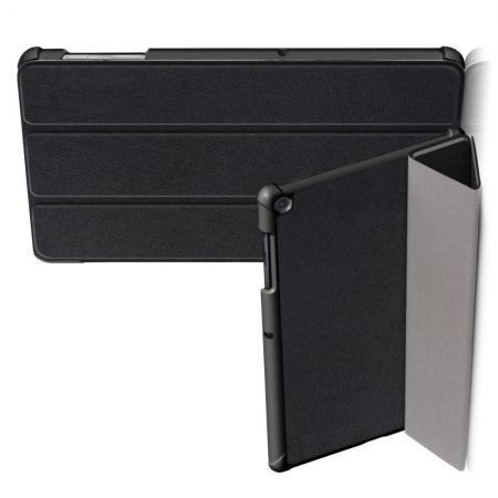Двухсторонний Чехол Книжка для планшета Samsung Galaxy Tab S5e SM-T720 SM-T725 Искусственно Кожаный с Подставкой Черный