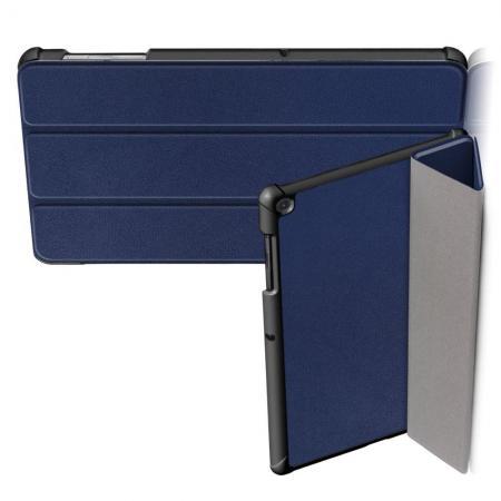 Двухсторонний Чехол Книжка для планшета Samsung Galaxy Tab S5e SM-T720 SM-T725 Искусственно Кожаный с Подставкой Синий