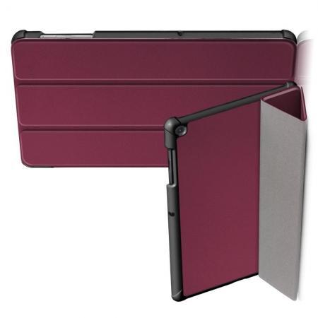Двухсторонний Чехол Книжка для планшета Samsung Galaxy Tab S5e SM-T720 SM-T725 Искусственно Кожаный с Подставкой Коричневый