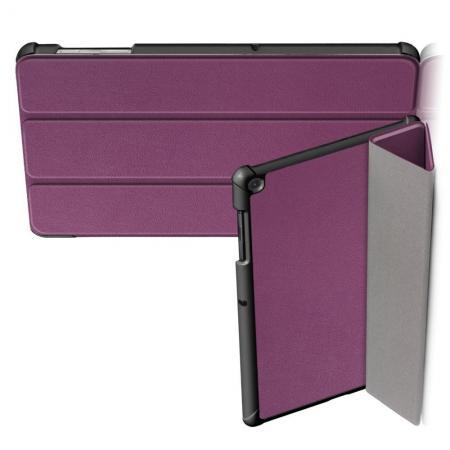 Двухсторонний Чехол Книжка для планшета Samsung Galaxy Tab S5e SM-T720 SM-T725 Искусственно Кожаный с Подставкой Фиолетовый