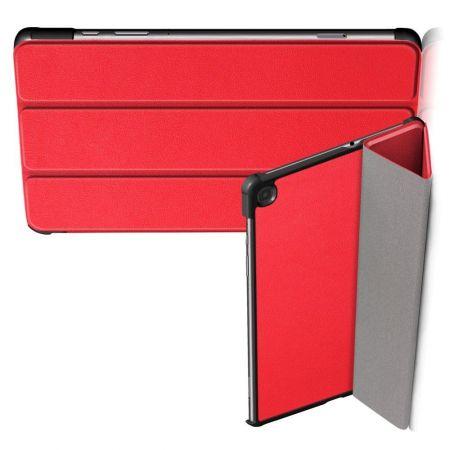 Двухсторонний Чехол Книжка для планшета Samsung Galaxy Tab S6 Lite 10.4 Искусственно Кожаный с Подставкой Красный