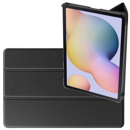 Двухсторонний Чехол Книжка для планшета Samsung Galaxy Tab S7 Искусственно Кожаный с Подставкой Черный