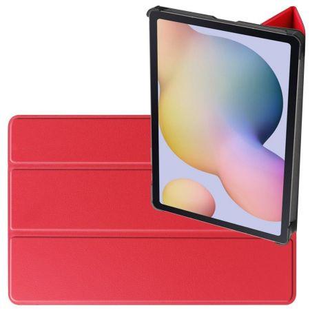 Двухсторонний Чехол Книжка для планшета Samsung Galaxy Tab S7 Искусственно Кожаный с Подставкой Красный