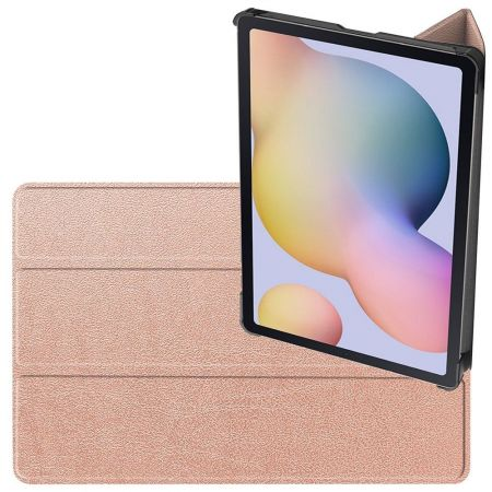 Двухсторонний Чехол Книжка для планшета Samsung Galaxy Tab S7 Искусственно Кожаный с Подставкой Розовый