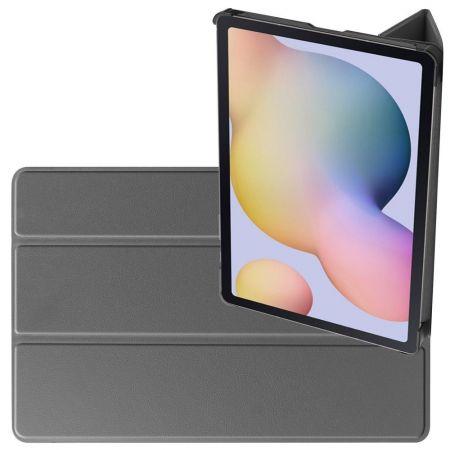 Двухсторонний Чехол Книжка для планшета Samsung Galaxy Tab S7 Искусственно Кожаный с Подставкой Серый