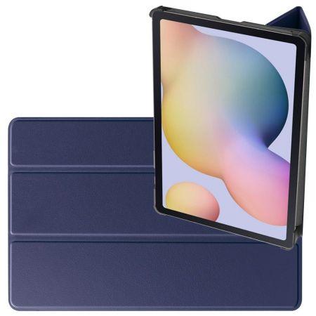 Двухсторонний Чехол Книжка для планшета Samsung Galaxy Tab S7 Искусственно Кожаный с Подставкой Синий
