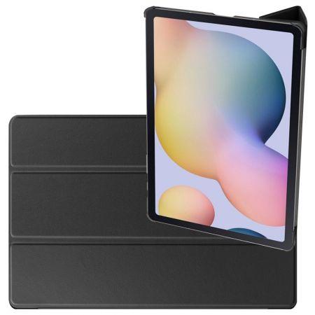 Двухсторонний Чехол Книжка для планшета Samsung Galaxy Tab S7 Plus 12.4 Искусственно Кожаный с Подставкой Черный