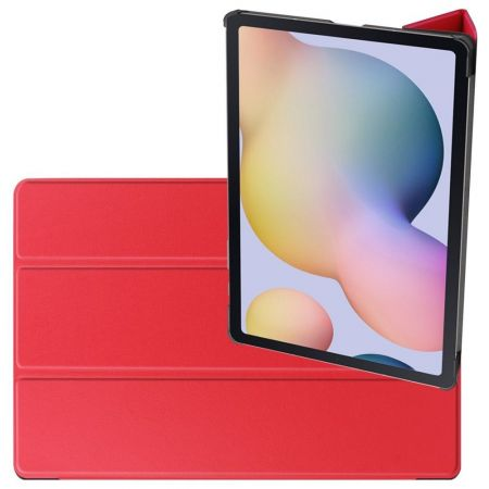 Двухсторонний Чехол Книжка для планшета Samsung Galaxy Tab S7 Plus 12.4 Искусственно Кожаный с Подставкой Красный
