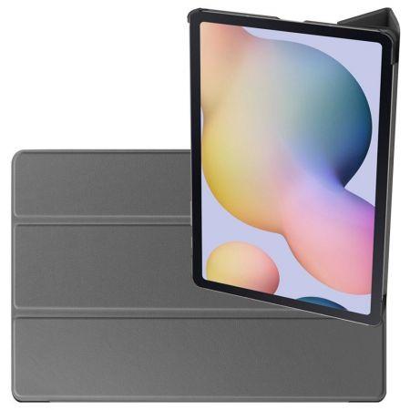 Двухсторонний Чехол Книжка для планшета Samsung Galaxy Tab S7 Plus 12.4 Искусственно Кожаный с Подставкой Серый