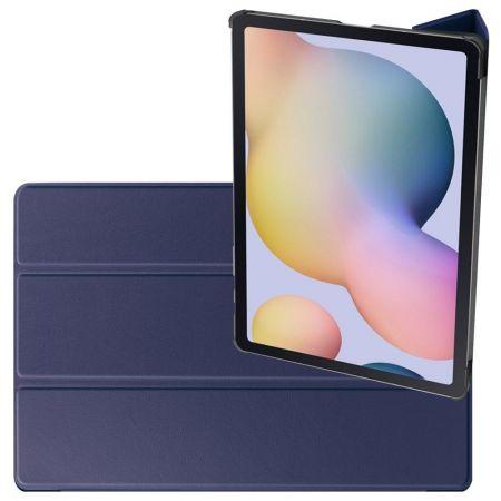 Двухсторонний Чехол Книжка для планшета Samsung Galaxy Tab S7 Plus 12.4 Искусственно Кожаный с Подставкой Синий