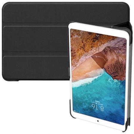 Двухсторонний Чехол Книжка для планшета Xiaomi Mi Pad 4 Искусственно Кожаный с Подставкой Черный