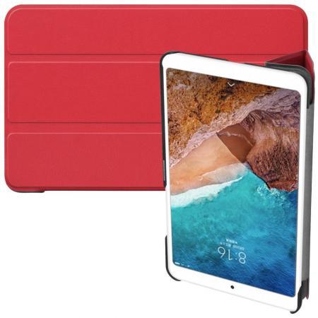 Двухсторонний Чехол Книжка для планшета Xiaomi Mi Pad 4 Искусственно Кожаный с Подставкой Красный