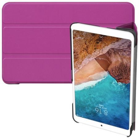 Двухсторонний Чехол Книжка для планшета Xiaomi Mi Pad 4 Искусственно Кожаный с Подставкой Фиолетовый