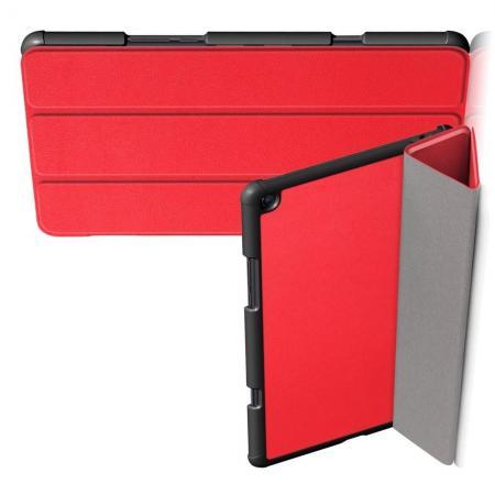 Двухсторонний Чехол Книжка для планшета Xiaomi Mi Pad 4 Plus Искусственно Кожаный с Подставкой Красный
