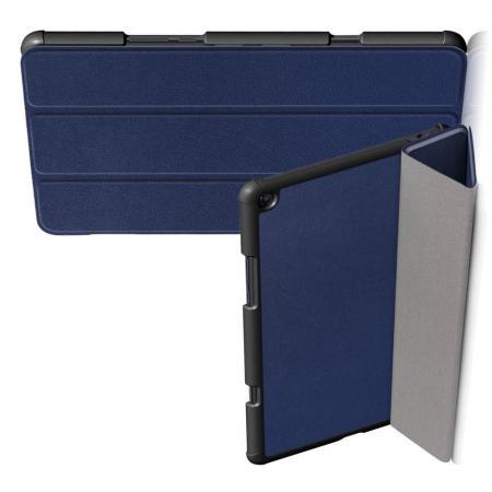 Двухсторонний Чехол Книжка для планшета Xiaomi Mi Pad 4 Plus Искусственно Кожаный с Подставкой Синий