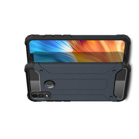 Extreme Усиленный Защитный Силиконовый Матовый Чехол для Huawei Honor 9X Lite Синий