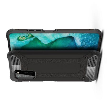 Extreme Усиленный Защитный Силиконовый Матовый Чехол для Huawei Honor View 30 / View 30 Pro / 30 Pro Черный