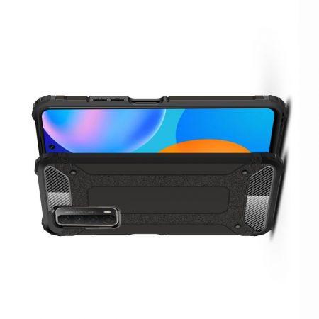 Extreme Усиленный Защитный Силиконовый Матовый Чехол для Huawei P Smart 2021 Черный