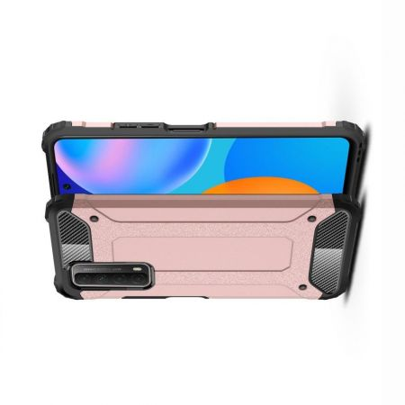 Extreme Усиленный Защитный Силиконовый Матовый Чехол для Huawei P Smart 2021 Розовый
