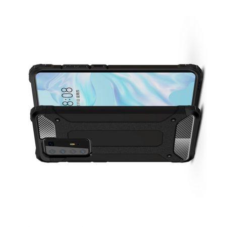 Extreme Усиленный Защитный Силиконовый Матовый Чехол для Huawei P40 Pro Черный