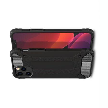 Extreme Усиленный Защитный Силиконовый Матовый Чехол для iPhone 12 / 12 Pro Черный