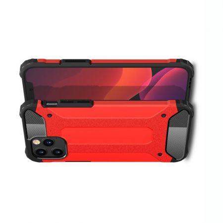 Extreme Усиленный Защитный Силиконовый Матовый Чехол для iPhone 12 / 12 Pro Красный