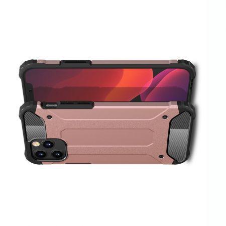 Extreme Усиленный Защитный Силиконовый Матовый Чехол для iPhone 12 / 12 Pro Розовый