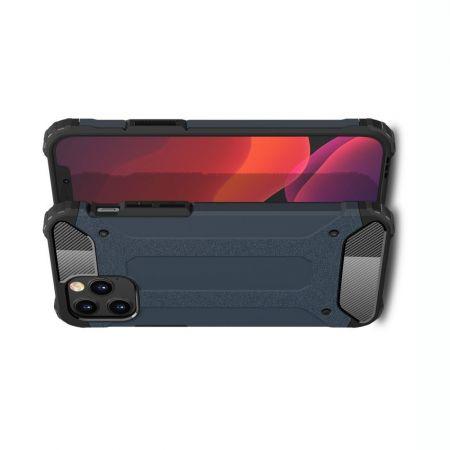 Extreme Усиленный Защитный Силиконовый Матовый Чехол для iPhone 12 / 12 Pro Синий