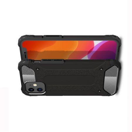 Extreme Усиленный Защитный Силиконовый Матовый Чехол для iPhone 12 mini Черный