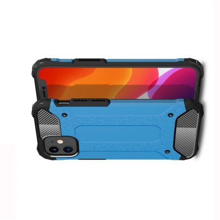 Extreme Усиленный Защитный Силиконовый Матовый Чехол для iPhone 12 mini Голубой