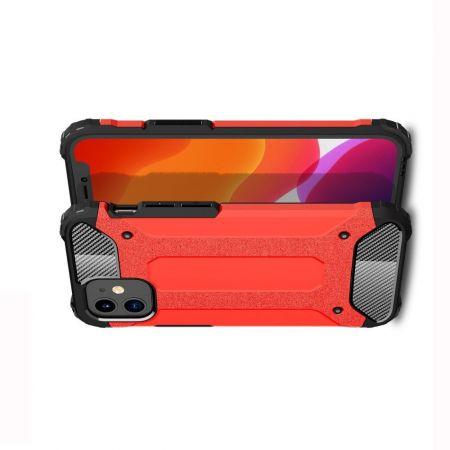 Extreme Усиленный Защитный Силиконовый Матовый Чехол для iPhone 12 mini Красный