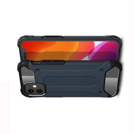 Extreme Усиленный Защитный Силиконовый Матовый Чехол для iPhone 12 mini Синий