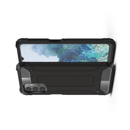 Extreme Усиленный Защитный Силиконовый Матовый Чехол для Samsung Galaxy A32 Черный