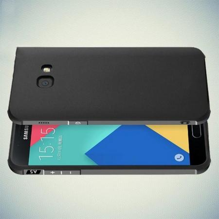 Extreme Усиленный Защитный Силиконовый Матовый Чехол для Samsung Galaxy A5 2017 SM-A520F Черный