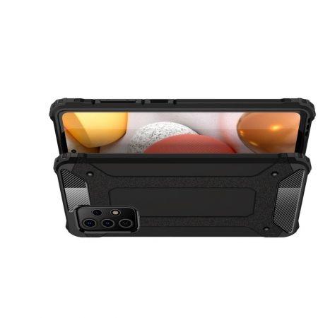 Extreme Усиленный Защитный Силиконовый Матовый Чехол для Samsung Galaxy A72 Черный