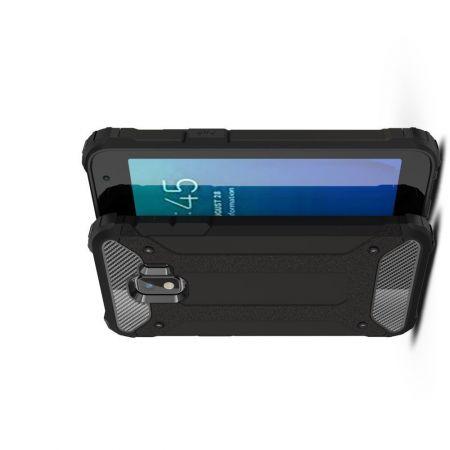 Extreme Усиленный Защитный Силиконовый Матовый Чехол для Samsung Galaxy J2 Core (2020) Черный