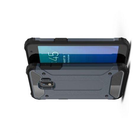 Extreme Усиленный Защитный Силиконовый Матовый Чехол для Samsung Galaxy J2 Core (2020) Синий