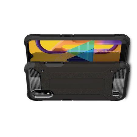 Extreme Усиленный Защитный Силиконовый Матовый Чехол для Samsung Galaxy M01 Черный