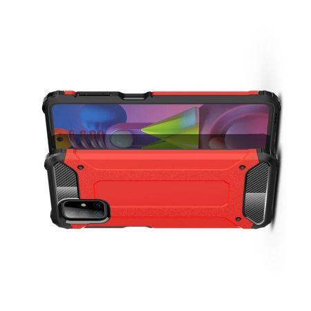 Extreme Усиленный Защитный Силиконовый Матовый Чехол для Samsung Galaxy M51 Красный