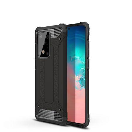 Extreme Усиленный Защитный Силиконовый Матовый Чехол для Samsung Galaxy S20 Ultra Черный