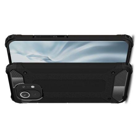 Extreme Усиленный Защитный Силиконовый Матовый Чехол для Xiaomi Mi 11 Черный