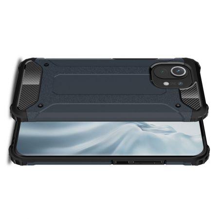 Extreme Усиленный Защитный Силиконовый Матовый Чехол для Xiaomi Mi 11 Синий