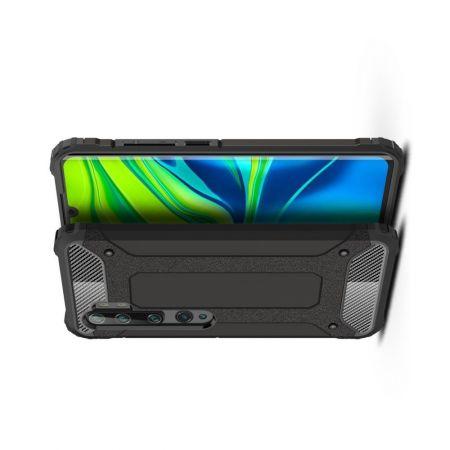 Extreme Усиленный Защитный Силиконовый Матовый Чехол для Xiaomi Mi Note 10 Lite Черный