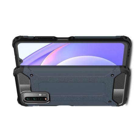Extreme Усиленный Защитный Силиконовый Матовый Чехол для Xiaomi Poco M3 Синий