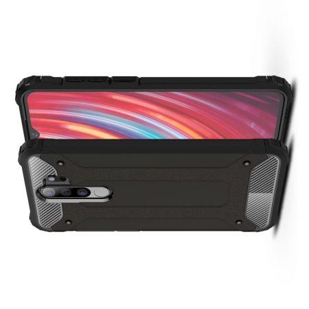 Extreme Усиленный Защитный Силиконовый Матовый Чехол для Xiaomi Redmi Note 8 Pro Черный