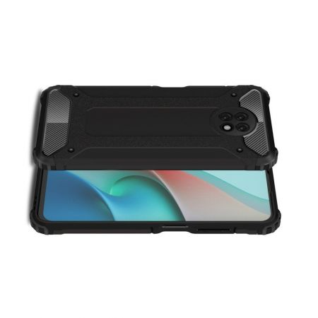Extreme Усиленный Защитный Силиконовый Матовый Чехол для Xiaomi Redmi Note 9T Черный