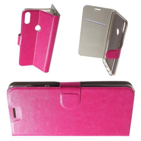Флип чехол книжка с кошельком подставкой отделениями для карт и магнитной застежкой для Asus Zenfone Max Pro M1 ZB602KL Розовый