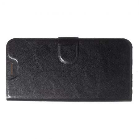 Флип чехол книжка с кошельком подставкой отделениями для карт и магнитной застежкой для Asus Zenfone Max Pro M1 ZB602KL Черный